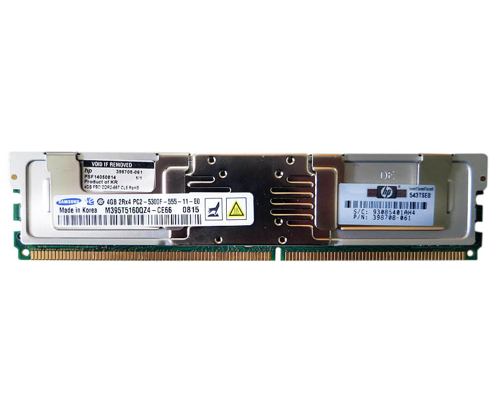 RETAIL -- HP 8GB (2 X 4GB) PC2-5300 FBD MEMROY 397415-B21 Image