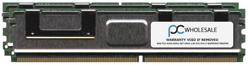 New HP Brand 16GB FULLY BUFFERED DIMM PC2-5300 2 x 8GB DDR2 Memo Image