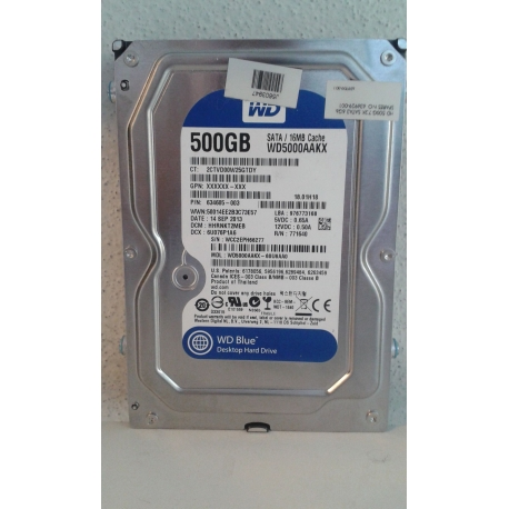 hp 500GB 7200 RPM 16MB Cache 2.5 SATA 3.0Gb hdd Image