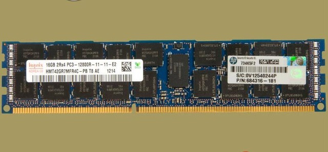 HP / HYNIX 16GB PC3L-10600R DDR3-1333 REGISTERED ECC 2RX4 CL9 24 Image