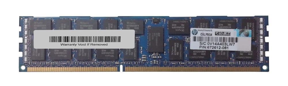 672612-081 - HP 16gb MEM (1X16gb) MEM PC3-12800? Dual Ranked Image