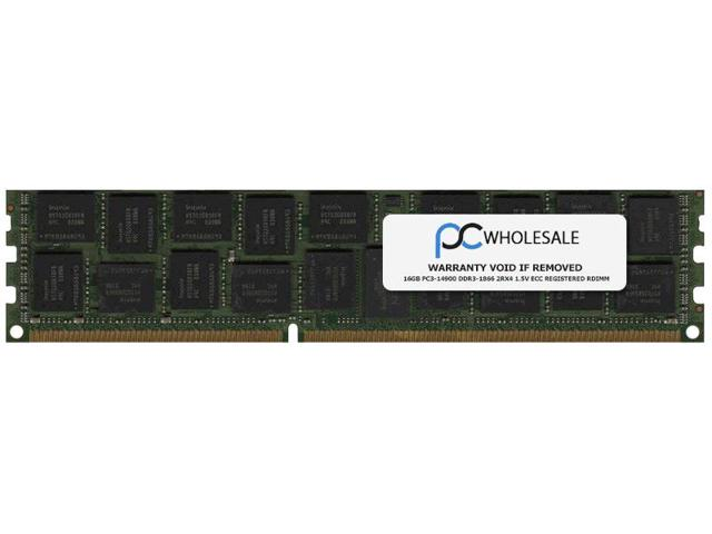 HP 16GB (1X16GB) 2RX4 PC3-14900R MEMORY MODULE WITH 1 YEAR WARRA Image