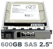 """Dell 2.5"""" 600 GB SAS 6 Gbps a 15000 RPM for Dell R820 with Caddy Image"""